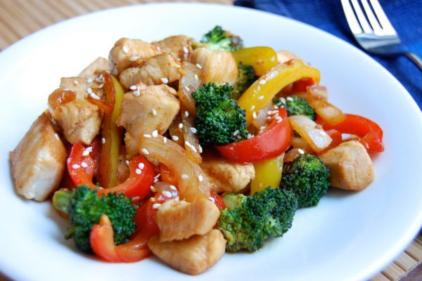 Basic chicken and stir fry